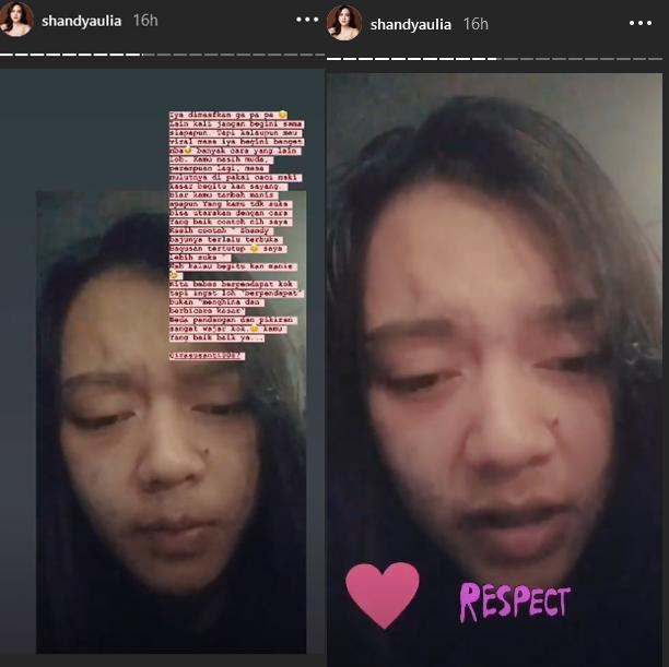 Shandy Aulia ciduk haters instagram