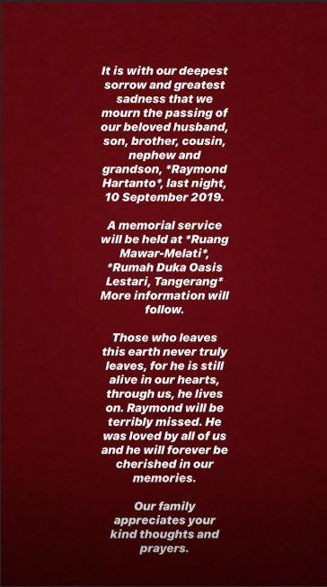 adik boy william meninggal Instagram