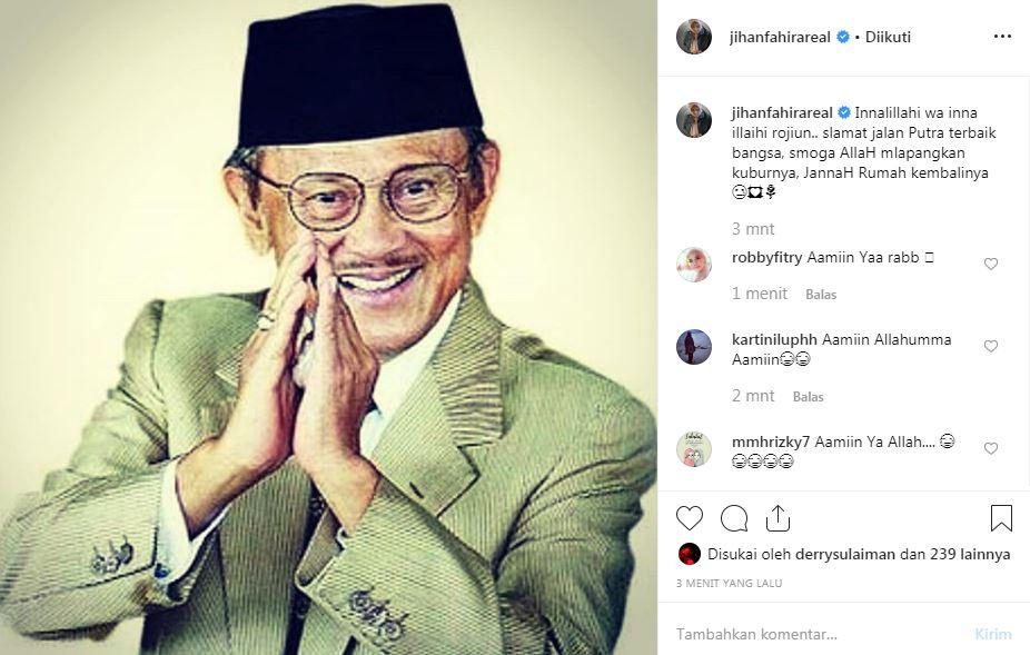 Seleb Tanah Air untuk BJ Habibie  Instagram