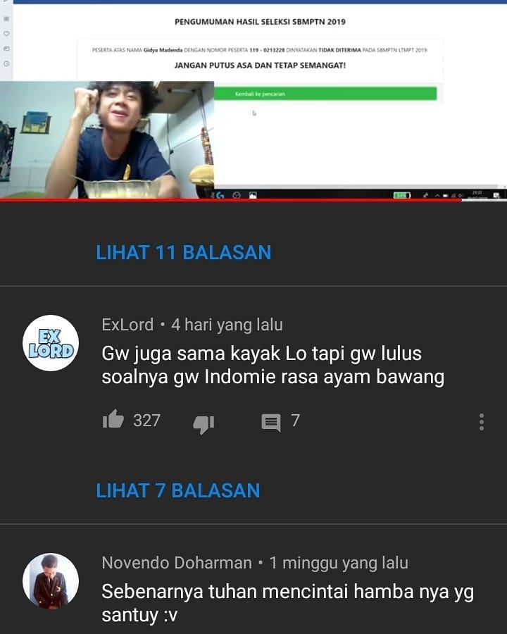 Komentar YouTube © 2019 brilio.net