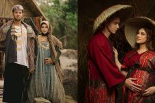 Gaya 12 seleb foto maternity berkonsep tradisional, klasik abis