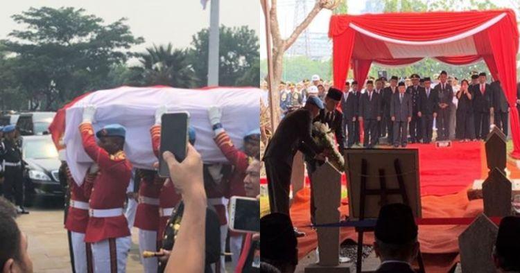 8 Momen pemakaman BJ Habibie di TMP Kalibata, penuh keharuan