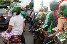 10 Tingkah penumpang ojek online pakai helm ini antimainstream