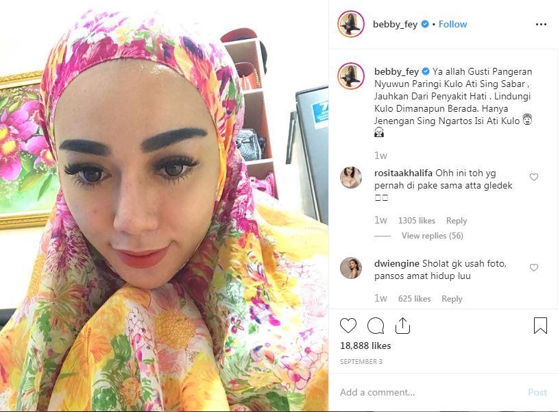 kontroversi bebby fey Instagram