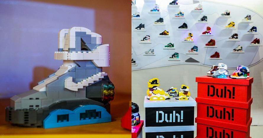 Sepatu Nike direplika pakai Lego, 7 fotonya keren banget