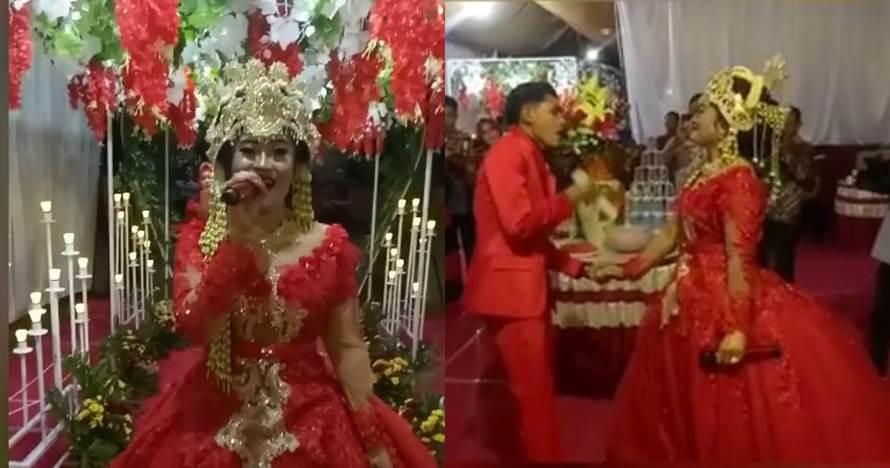 Viral, ini sosok pengantin yang nyanyi di pernikahannya sendiri