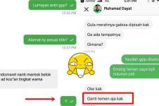 10 Chat lucu balas dendam driver ojek online ke pelanggan ini kocak