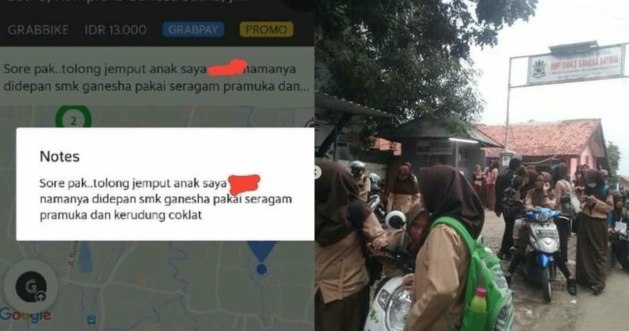 9 Chat lucu driver ojek online diminta jemput anak sekolah, kocak