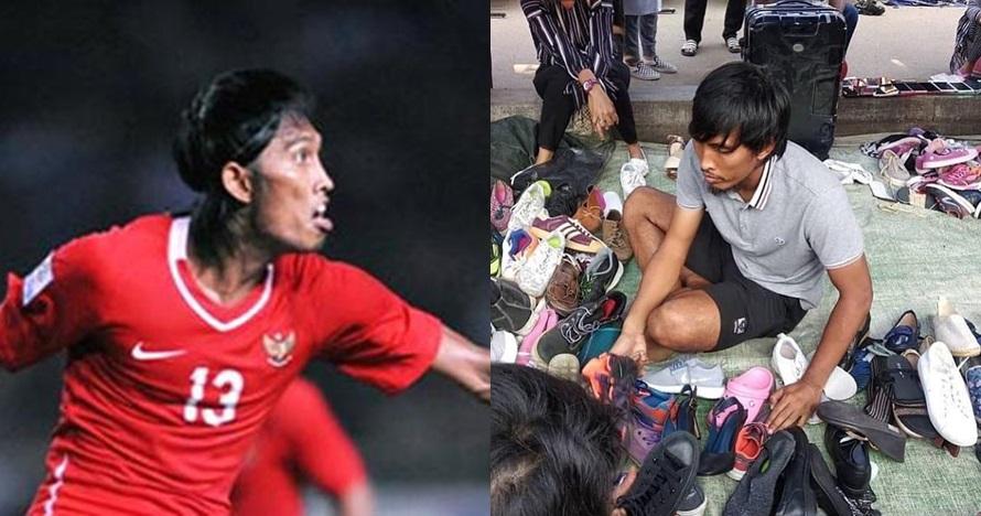 Fotonya 'jualan sepatu' viral, ini reaksi bijak eks pemain Timnas