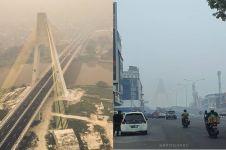 9 Penampakan terkini Riau yang diselimuti kabut asap kebakaran hutan