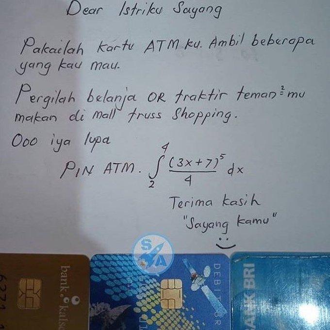 pin ATM istimewa