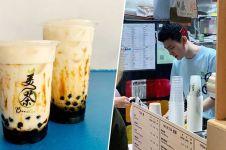 Penjual brown sugar milk tea ini disebut mirip Song Joong-ki