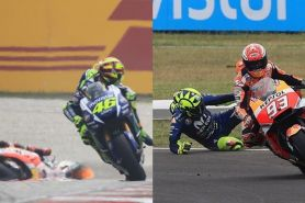 Kembali panas, ini 6 perseteruan Valentino Rossi vs Marc Marquez