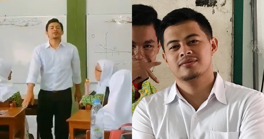 sosok guru ganteng viral digombalin murid © berbagai sumber
