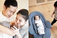 Tingkah gemas anak Sandra Dewi, Raphael Moeis bertemu adiknya