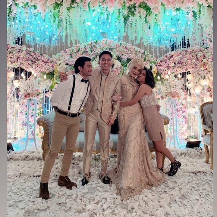 momen nikahan Ichal dan Dafina menikahi instagram