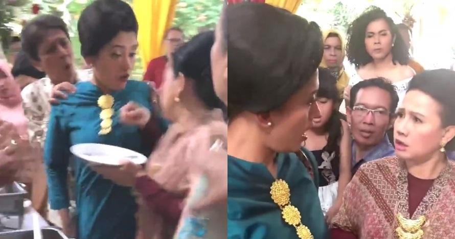 Viral emak-emak adu mulut di pesta nikah, gegara rebutan rendang