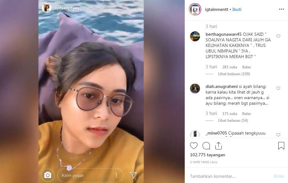 Isi obrolan Ayu Ting Ting Instagram