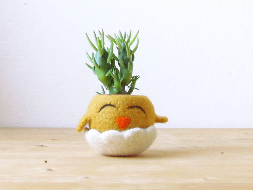 Pot bunga mungil berbentuk hewan decoist.com