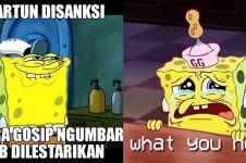 7 Meme lucu KPI tegur Spongebob ini bikin senyum kecut