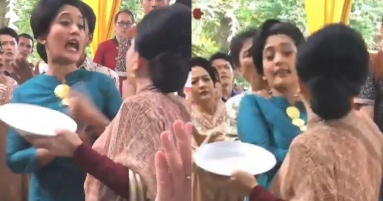 Viral emak-emak berantem di pesta nikah karena rendang, ini faktanya