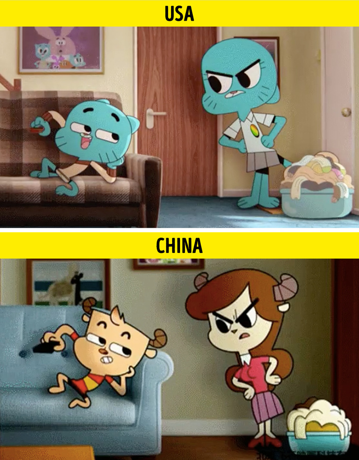 beda karakter film kartun  Brightside