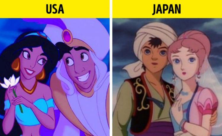 10 Penggambaran karakter film kartun beda di negara lain