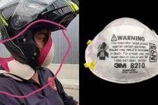 Viral, pria Malaysia gunakan bra untuk lindungi diri dari kabut asap