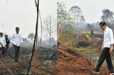 Jokowi tinjau kebakaran hutan, perubahan sepatunya jadi sorotan