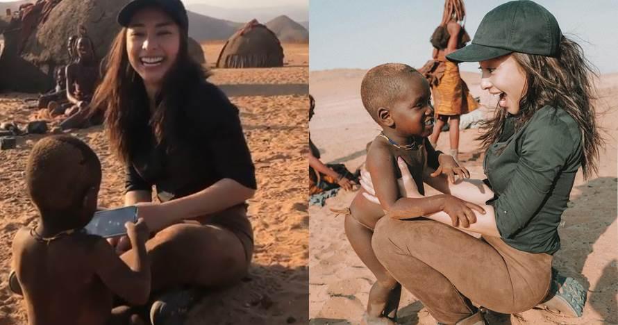 9 Momen Nikita Willy & pacar liburan ke Afrika, seru bareng anak suku