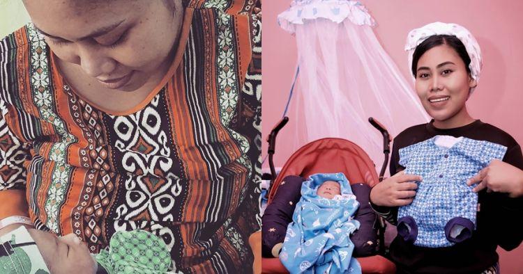 Jadi ibu baru, begini 8 momen Evi Masamba momong putrinya