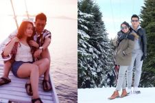 11 Potret liburan adik Ayu Ting Ting dan pacar, mesra abis