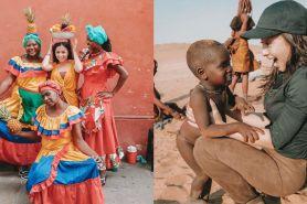 Momen Nikita Willy liburan di 8 negara, main bareng anak Namibia