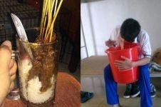 10 Cara kepepet makan dan minum ini bikin geleng kepala