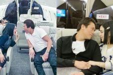 8 Potret mesra Syahrini & Reino di jet pribadi, bikin baper