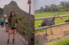 10 Momen Ashanty liburan di Afrika, sempat dipatok burung unta