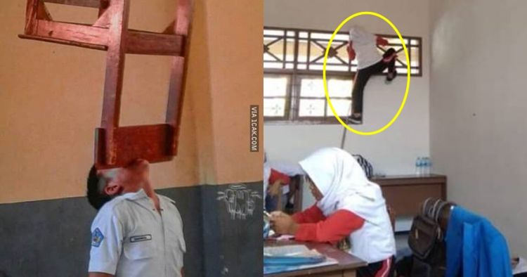 10 Tingkah 'ekstrem' siswa di sekolah ini bikin geleng kepala