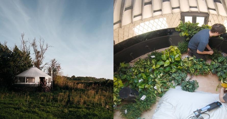 Sejoli ini bikin rumah tenda luas 67 meter persegi, hasilnya wow!