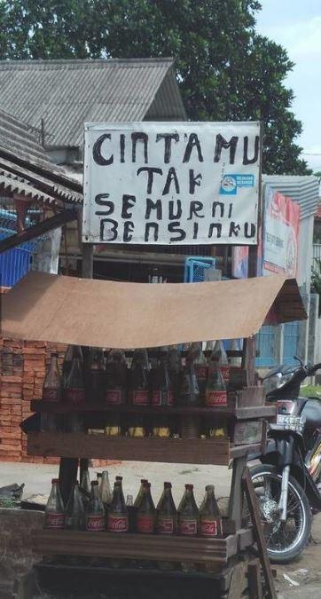 tulisan unik gerobak bikin ngakak Istimewa