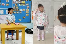 10 Gaya Bilqis anak Ayu Ting Ting pakai seragam sekolah, imut