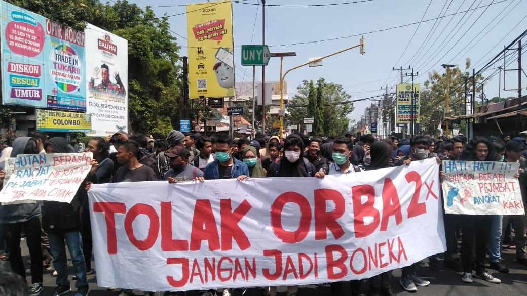 Begini kondisi terkini aksi #GejayanMemanggil di Jogja