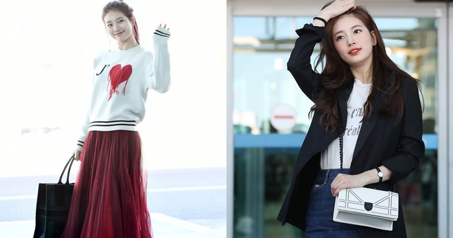 10 Gaya airport fashion Bae Suzy pemeran Vagabond, simpel stylish