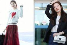 10 Gaya airport fashion Bae Suzy pemeran Vagabond, simpel stylish