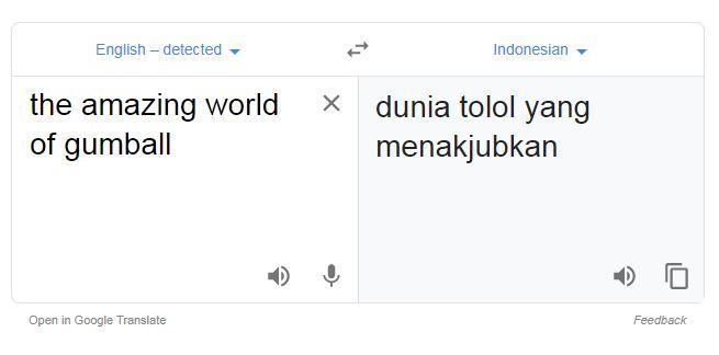Terjemahan absurd di Google Translate © 2019 1cak.com
