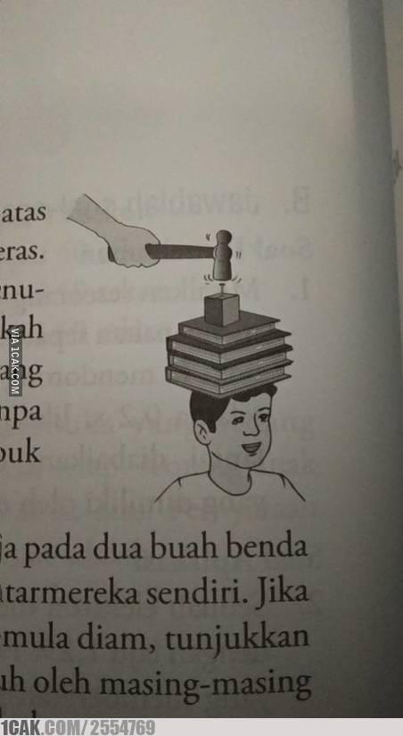 buku pelajaran absurd bikin nyengir  berbagai sumber