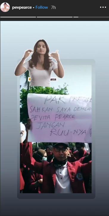 reaksi seleb poster demo Instagram