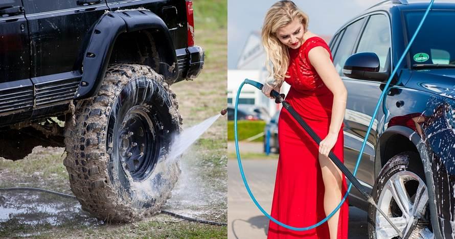 6 Cara mencuci mobil sendiri di rumah pakai jet cleaner