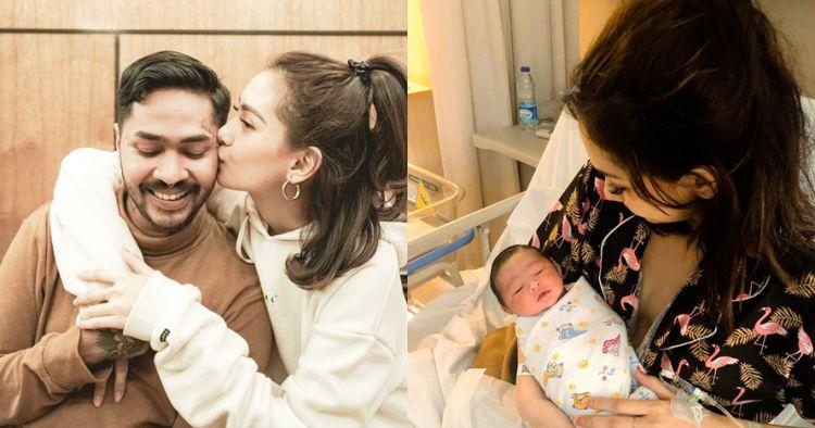6 Momen istri Onadio melahirkan anak pertama, beri nama unik