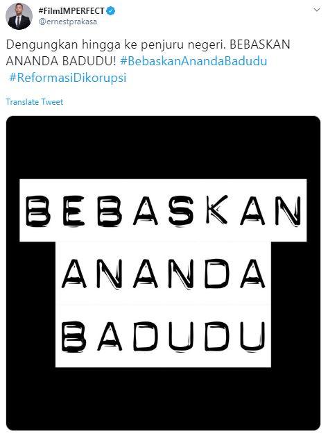 Dukungan seleb untuk Ananda Badudu © 2019 berbagai sumber