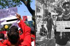Tulis nomor HP di kertas demo, mahasiswa ini kena prank warganet